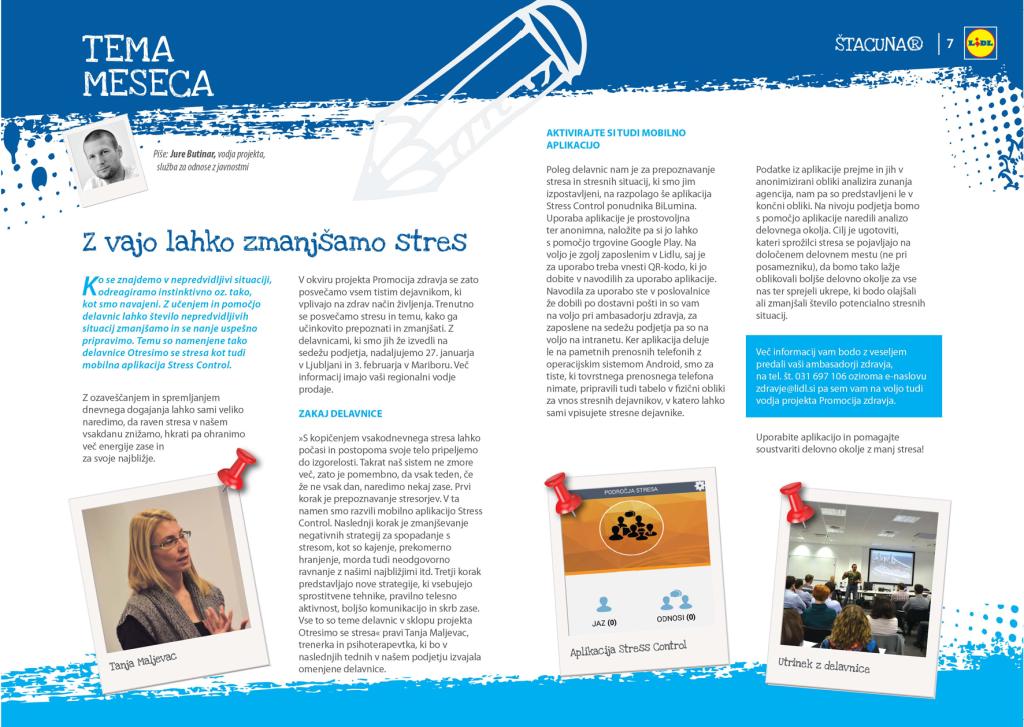 promocija zdravja na delovnem mestu_LIDL_objava Štacunar